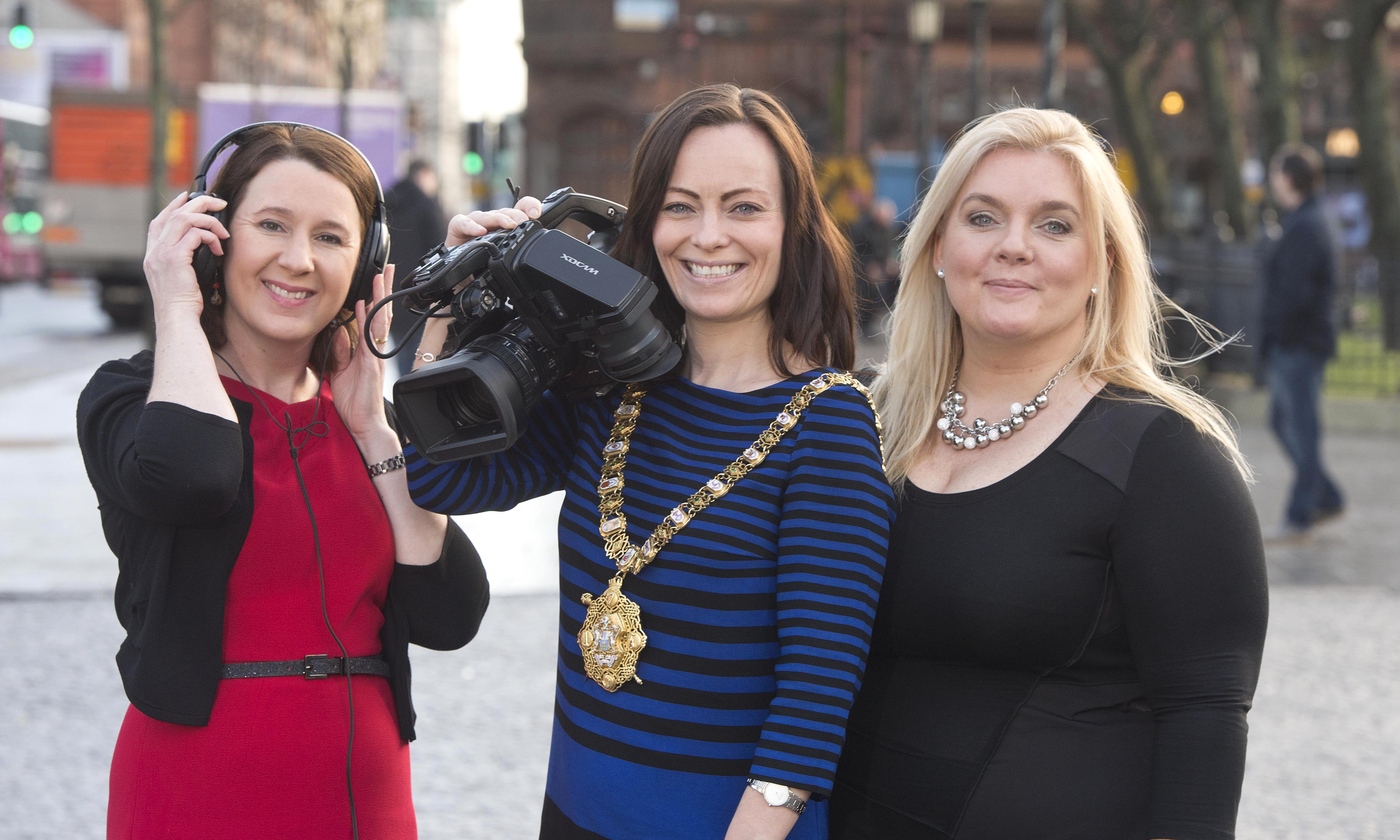 Pictured at the recent Glórtha Aduaidh (Northern Voices) TV and Radio documentary series launch at Belfast City Hall (organised by i2 Total Marketing), which is currently being broadcast on TG4, are (l to r): Lorraine McCourt, Director, Special EU Programmes Body; Sonia Nic Giolla Easbuig Jones, Ligid Productions and Nichola Mallon, Lord Mayor of Belfast.